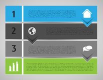Infographic template, banners Stock Images