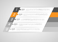 Infographic template banners Royalty Free Stock Photos