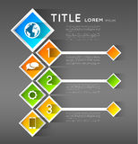 Infographic template banners, squares Royalty Free Stock Photo