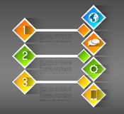 Infographic template banners, squares Stock Photo