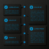 Infographic template banners Stock Image