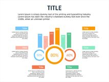 Infographic template bar potrait and smart bussiness. Infographic elements, designs cover all styles and creative to formal and business presentations, flyer and Royalty Free Stock Images