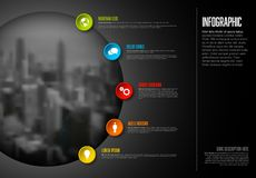 Infographic template with big photo stock images