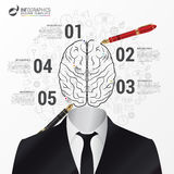 Infographic template. Brain concept. Businessman. Vector. Illustration Stock Photography
