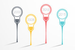 Infographic Template bulb Royalty Free Stock Photography