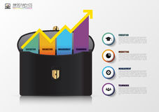 Infographic template with business bag. Modern design. Vector illustration Royalty Free Stock Image