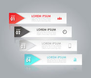 Infographic template. Business concept with 4 options, parts or steps Stock Images