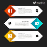 Infographic template. Business concept with 3 steps. Vector. Illustration Stock Photography
