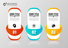 Infographic template. Business concept with 3 steps. Vector. Illustration Royalty Free Stock Photo