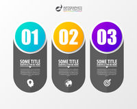 Infographic template. Business concept with 3 steps. Vector. Illustration Royalty Free Stock Images