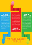Infographic template for business design with ribbons Stock Images