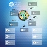 Infographic template for business design, triangle Royalty Free Stock Image