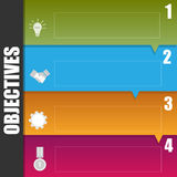 Infographic template of business objective concept Stock Image