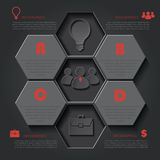 Infographic template for business project or presentation Royalty Free Stock Image