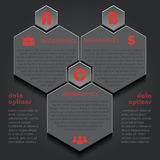 Infographic template for business project or presentation with Royalty Free Stock Photos