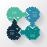 Infographic Template for Business. 4  steps cycling diagram. Stock Images