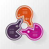 Infographic Template for Business. 3  steps cycling diagram. Royalty Free Stock Photo