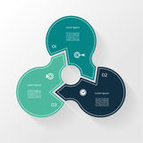 Infographic Template for Business. 3  steps cycling diagram. Stock Photography