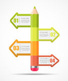 Infographic Template for Business Vector Royalty Free Stock Photography