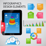 Infographic template business vector illustration Stock Images
