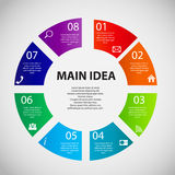 Infographic template business vector illustration Royalty Free Stock Photography