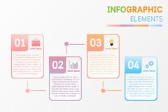 Infographic elements design with icons, number, text. royalty free illustration