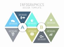 Infographic template. Can be used for workflow layout, diagram, business step options, banner, web design. Royalty Free Stock Image