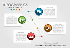 Infographic template. Can be used for workflow layout, diagram, business step options, banner, web design. Royalty Free Stock Photos