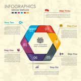 Infographic template. Can be used for workflow layout, diagram, business step options, banner, web design. Royalty Free Stock Photo