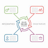 Infographic template. Can be used for workflow layout, diagram, business step options, banner, web design. Stock Photography