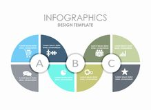 Infographic template. Can be used for workflow layout, diagram  Royalty Free Stock Image