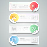 Infographic template. can be used for workflow layout Royalty Free Stock Photos