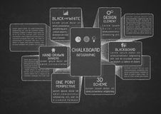 Infographic template on chalkboard Royalty Free Stock Photography
