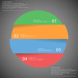 Infographic template with circle divided to four parts on dark Royalty Free Stock Photography