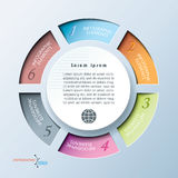 Infographic template with circle and six segments. Royalty Free Stock Photography