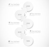 Infographic template with circles and arrows. This is file of EPS10 format Royalty Free Illustration