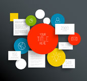 Infographic template with circles and squares Royalty Free Stock Image