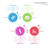 Infographic template with circular elements and business icons Royalty Free Stock Images