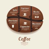 Infographic Template with Coffee Bean Jigsaw banner . concept. Royalty Free Stock Photos