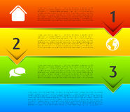 Infographic template, colorful banners Royalty Free Stock Photography