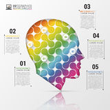Infographic Template with Colorful Head. Modern Concept. Vector Illustration.  Stock Photos