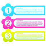 Infographic Template Colorful List Stock Photography