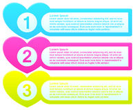 Infographic Template Colorful List Stock Photo