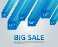 Infographic template, cubes,  rays, discounts. Vector infographic template, cubes,  rays, discounts. Big sale Stock Photos