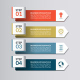 Infographic template. Curved paper arrows Royalty Free Stock Photography