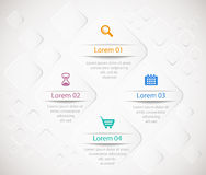 Infographic template with 3D squares on abstract l. Vector infographic template with 3D squares on abstract light background Royalty Free Stock Images