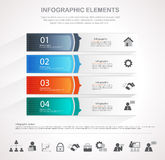 Infographic template design. Infographic design template and business icons set. Template for diagram, graph, chart, flyer, presentation, print and website Royalty Free Stock Images