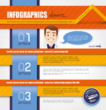 Infographic template design Stock Images