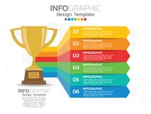 Infographic template design with 6 color options. Infographic template design with 6 color options for your design Royalty Free Stock Images