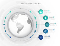 Infographic template. An infographic template design for company or business Royalty Free Stock Image